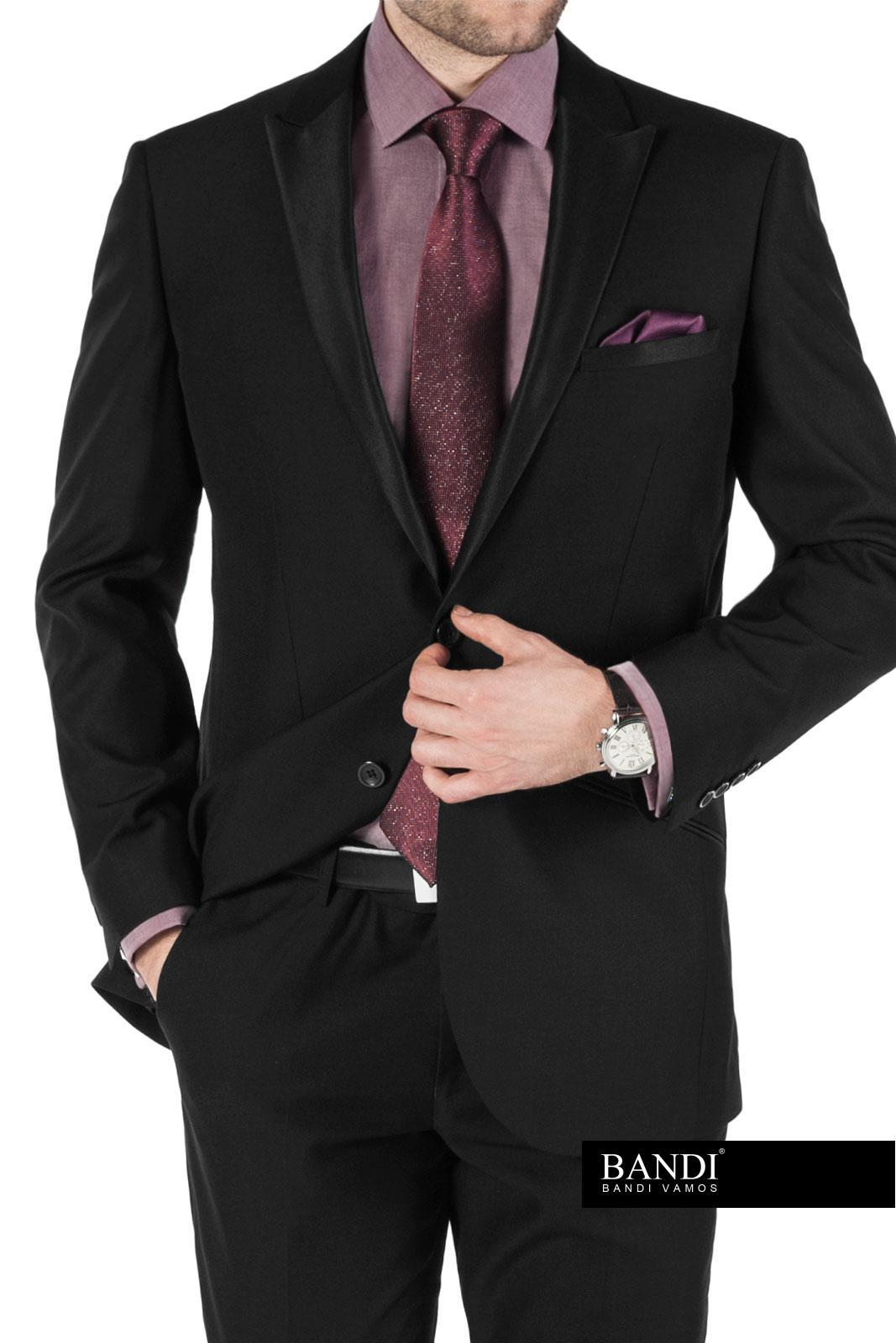 Příklad outfitu na ples – bordó kravata