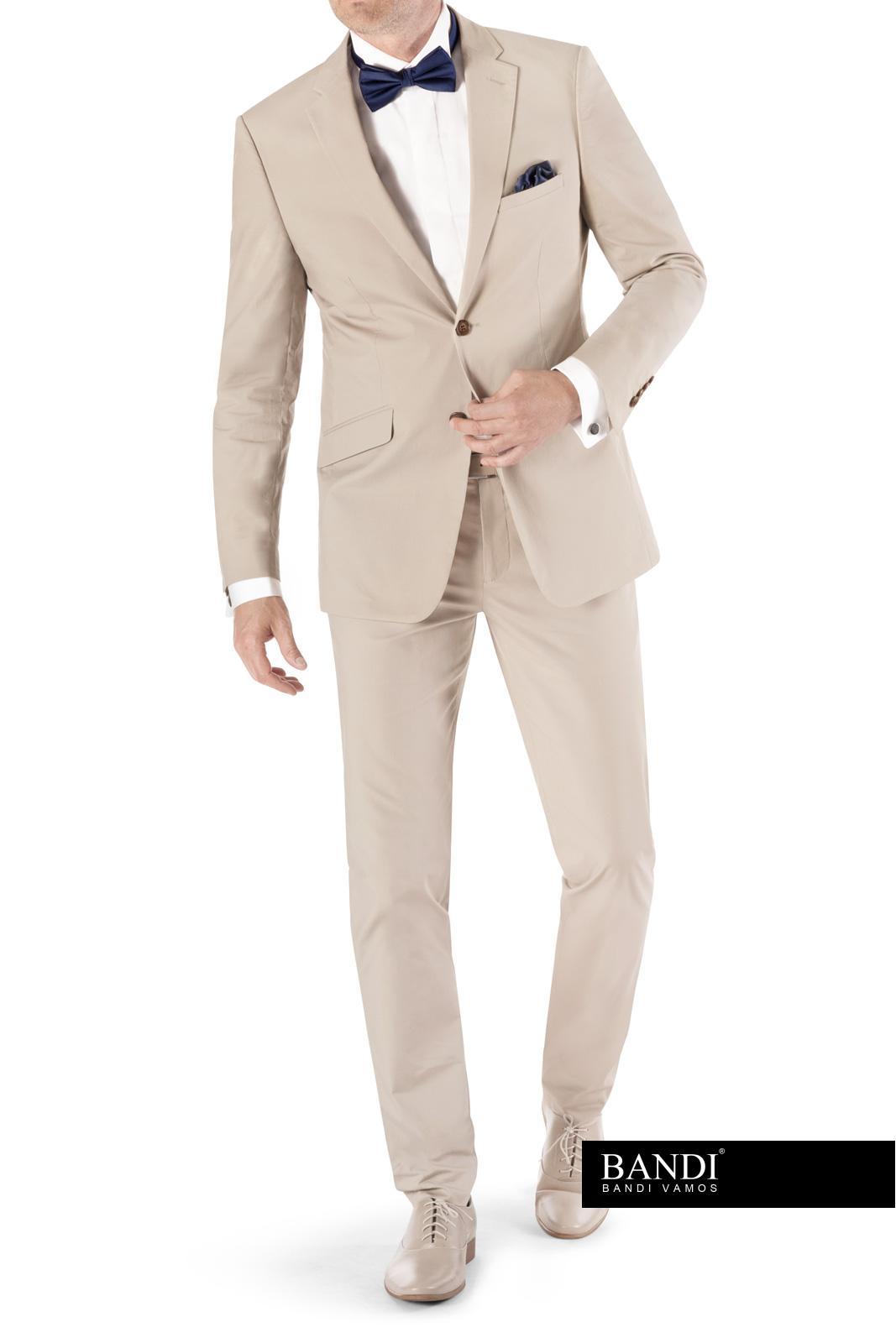 Krémový oblek pro ženicha